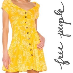 New Free People A Thing Called Love mini yellow